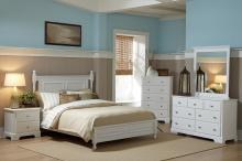 (3) CAL KING BED, WHITE/1356KW-1CK*