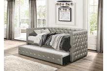 (2) DAYBED W/TRUNDLE, GRAY SILVER/4974*