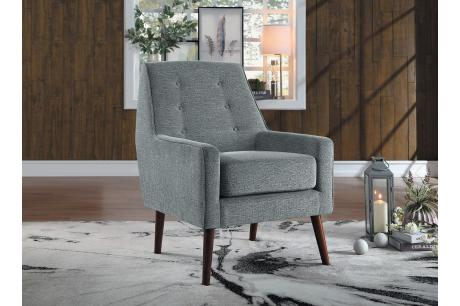 ACCENT CHAIR, GRAY 100% POLYESTER/1118GY-1