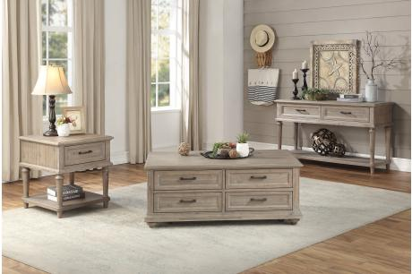Sofa Table With Two Functional Drawers, Brown/1689BR-05
