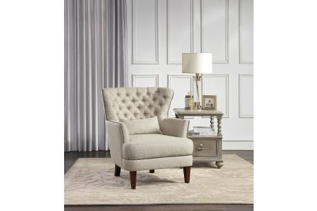 ACCENT CHAIR WITH KIDNEY PILLOW/1112-1
