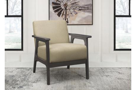 Accent Chair, Light Brown 100% Polyester/1103BR-1
