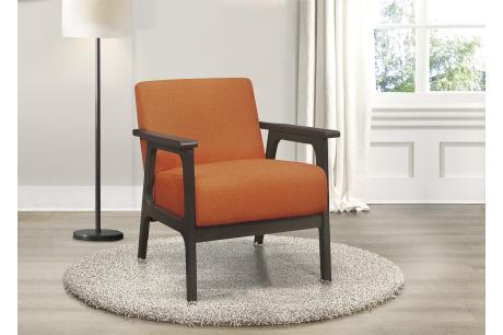 Accent Chair, Orange 100% Polyester/1103RN-1