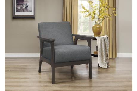 Accent Chair, Gray 100% Polyester/1103GY-1