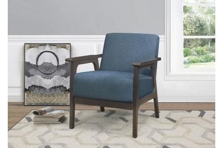 Accent Chair, Blue 100% Polyester/1103BU-1